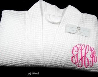 Cotton Anniversary Gift for Her, 2nd Anniversary Gift for her, Cotton Anniversary Gift, Monogrammed Cotton Robe,  jfyBride, 1707MC