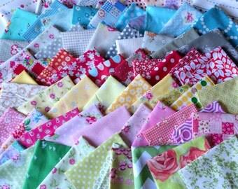 Designer Fabric SCRAP PACK in Multi Colors, 40 pieces