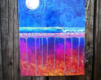 Midnight Run abstract landscape surf art