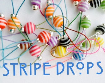 Knitting Stitch Markers snag free - STRIPE DROPS