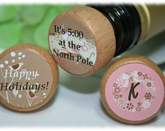 Christmas Custom Wine Stoppers- Add Your Wording On Your Christmas Wine Stopper