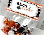 Halloween Bag Topper, Bugs & Kisses, DIY, Printable