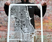 chicago hand cut map