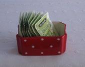 Red With White Polka Dots - Sugar Packet or Teabag Holder/Dispenser -  USA Made