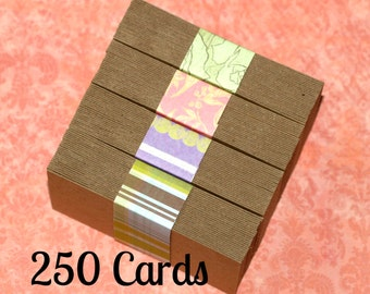 "Business Cards (250) ... Kraft Chipboard Medium Weight Biz Cards 2"" x 3.5"" Seller Supplies DIY Biz Cards Recycled Thick Cardstock Rustic"