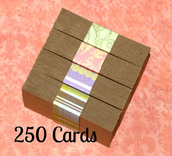 Business cards 250 kraft chipboard medium weight biz for Chipboard business cards