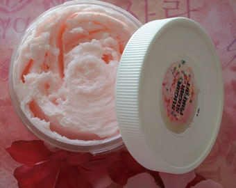 KISSING BOOTH Whipped Soap Parfait - Shaving Soap - VALENTINES Day Gift for her - 4oz.  Strawberry Marshmallow - skin care - whipped soap