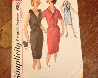 Simplicity dress Pattern 5513 vintage 1964