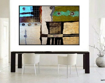 SALE! Large Mixed Media Abstract Painting