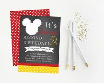 Mickey or Minnie Birthday Party Invitation