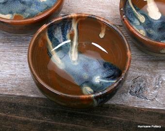 Dipping Bowl. Hand Thrown Ceramic Bowl. Condiment Bowl. Prep Bowl. Hurricane Pottery