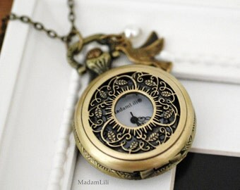 THE EXTRAORDINARY Watch Locket Necklace