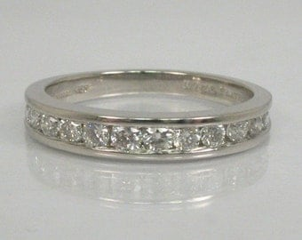 Diamond and Platinum and Palladium Wedding Band - 0.50 Carats Diamond Total Weight