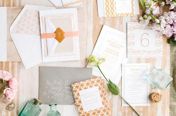 Printable Wedding Invitation, DIY Wedding Invitation, PDF Wedding Invitation, Beach Wedding Invitation, Clara Wedding Invitation