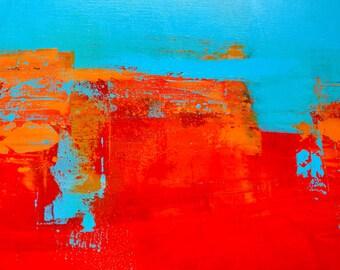 Sonoran Sun Abstract Painting Fine Art Print