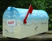 Four Birds Mailbox, Hand Painted Mailbox, Beach Mailbox, Beach Decor, Great Gift Idea
