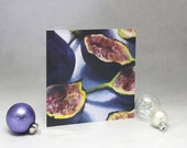 Fig - blank note card set - art card of oil painting still life of fresh figs - figgy pudding
