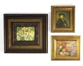Set of 3 Vintage Miniature Framed Paintings