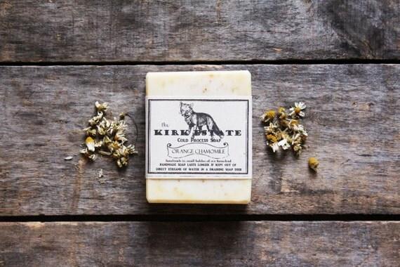Orange Chamomile // large bar // handmade soap // cold process soap // organic // artisan soap // lightly scented // vegan // natural soap