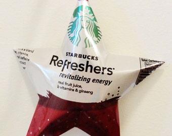 Starbucks Refreshers Revitalizing Energy Star Ornaments Soda Can Upcycled