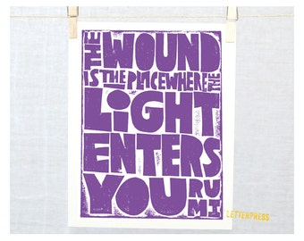 Rumi, The Wound is the Place where the Light Enters You, Sympathy Gift