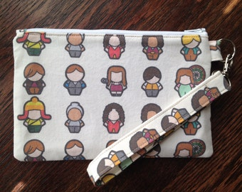 Aim to Misbehave Wristlet with Lining & Strap