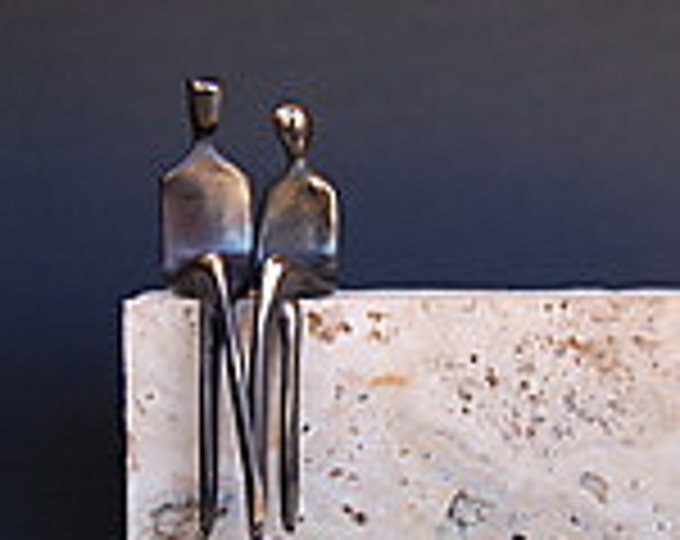 The Two of Us,  Beautifully finished solid cast bronze figurines,  for perfect church wedding gift, church collection