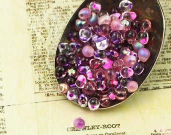 Lilac Fringe Beads Mix or Beads and Jump Rings - 100% Guarantee