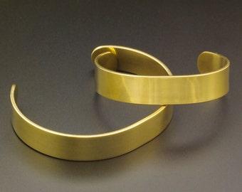 Solid Brass Bangle Blank - 12mm - 1/2 inch wide - 14 gauge - 100% Guarantee
