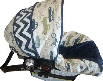 Infant Car Seat Cover Retro Rides Moves to Toddler