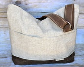 Diaper Bag, a best seller!  Linen & Waxed Canvas colors, by Darby Mack and made in the USA