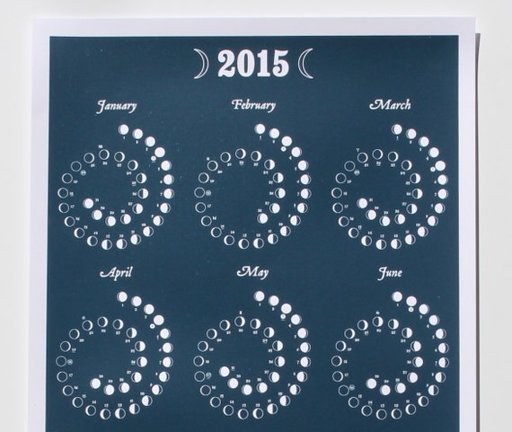 Moon Images 2015 2015 Moon Calendar in Night