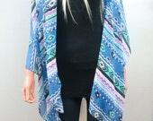 Kimono/ Oversize Kimono Cardigan Southwestern Navajo print,cobalt, turquoise,lilac-Many colors