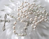 Hint of Pink  First Communion Rosary