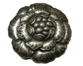 Beautiful Flower Sterling Silver Norseland Brooch. USA 1940s. Coro.