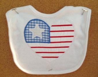 Patriotic Bib Military Baby Shower Gift American Love