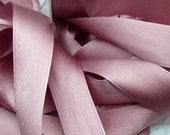 100 % Pure Silk/Satin Double Face  Ribbon Antique/Rose Color 1  inch wide 10 yard Spool