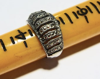 Sterling Silver and Marcasite Sz 5 Ring on Etsy