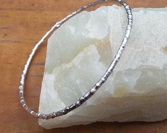 silver twig bangle  sterling branch bangle  twig bracelet  stackable bangle  nature inspired