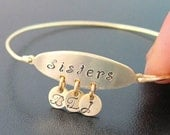 Personalized Sister Bracelet, Personalized Sister Jewelry, Unique Sister Gift, Sister Maid of Honor Gift, Sisters, Best Friend Bracelet