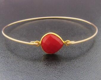 Red Carnelian Bracelet, Carnerlian Jewelry, Semi Precious Jewelry, Agate Jewelry, Red Agate Bracelet, Bangle, Semi Precious Stone Jewelry