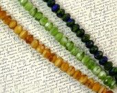Mixed Fire Polish 6mm Rondelle Glass Beads 60% off, qty 75
