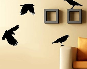 Set of BIRDS Vinyl Wall Decal SALE Only 20 BUCKAROOS