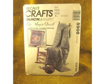 The Magic Quilt – McCall's Crafts – Quick & Easy Pattern #5908 - Original Vintage Uncut Paper Sewing Pattern