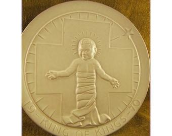 Jesus Christ - King of Kings – 1970 Frankoma Christmas Plate – Vintage Sapulpa Clay Frankoma Pottery