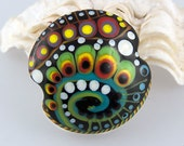 Space Traveling  - Art Glass - 1 focal bead by Michou P. Anderson