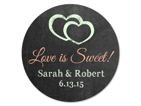custom wedding favor stickers personalized favor labels rustic