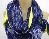 Fashion Scarf, chic, Japanese printed  bright yellow banding scarf, Scarf, Shawl,special , man scarf, Unisex, .