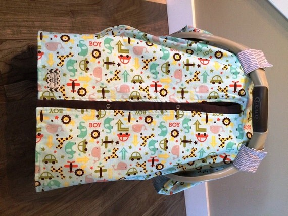 Carseat Canopy Boy Print  / Car seat cover / car seat canopy / carseat cover / carseat canopy / nursing cover