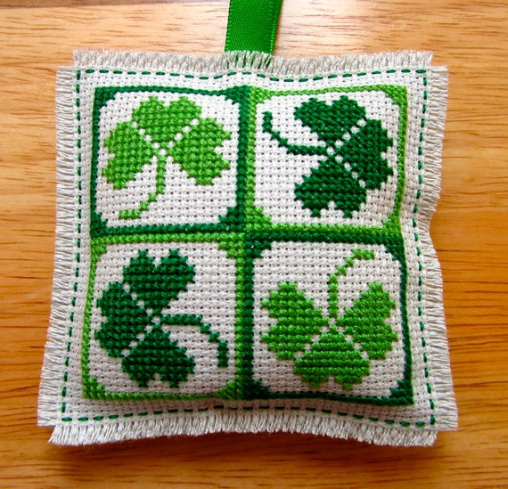 Items similar to handmade irish shamrocks st patrick 39 s day for Shamrock decorations home